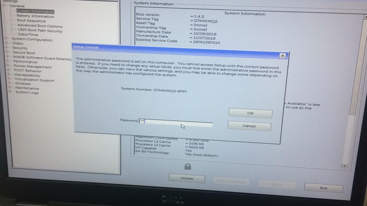 remove bios  password dell latitude 5491 .jpg