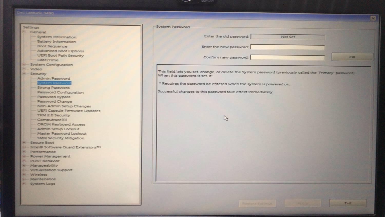 unlock bio password Dell Latitude e5490.jpg